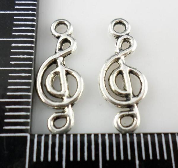 Musiknote Anhänger Tibet Silber Charms 8x20mm Machen Fit Europäischen Schmuck Armband Halskette Ohrringe Männer Frauen Zubehör 100 stücke