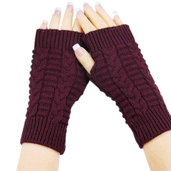 Knitted Arm Fingerless Gloves Autumn Winter Women Warmth Long Stretchy Mittens Women Winter Hand Arm Warm Female Gloves