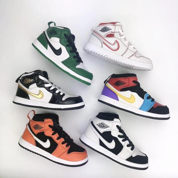 best selling Big Kids Mid Basketball Shoes for Toddler Boys Sports Shoe Little Girls Sneakers Children Skateboarding Kid Skate Sneaker Youth Sport Child