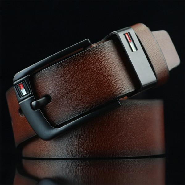 2019 Nuevo cinturón de diseño Pin Hebilla cinturones de cuero para hombres Cinturones de diseño de lujo para hombre Cinturón de cintura de buena calidad