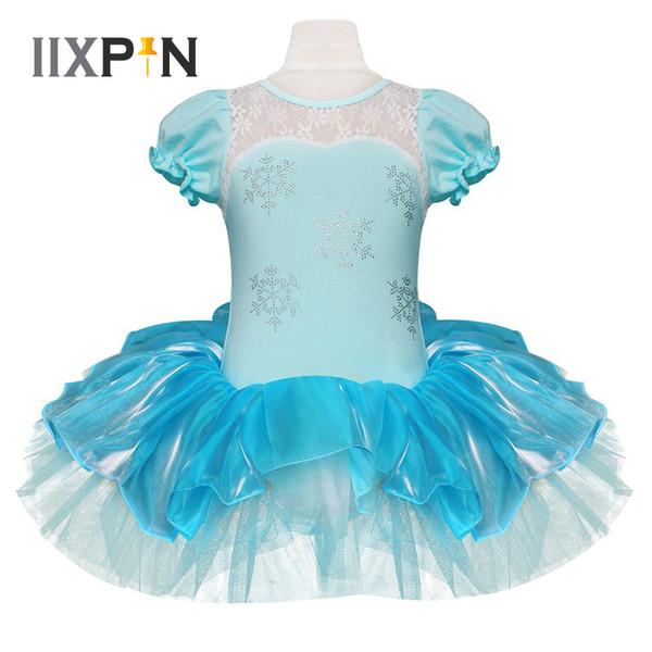 IIXPIN Kids Girls Princess Ballet Tutu Dress Snowflake Tutu Dancewear Party Dress For Girls leotards ballerina