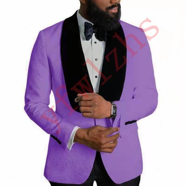 Красивый Groomsmen шаль лацкане жениха смокинги мужские Свадебное платье Человек куртка Blazer Пром Dinner 2 шт костюм (куртка + брюки + Tie) 394