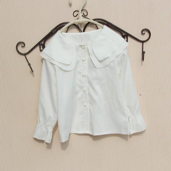 Mädchen weiße Bluse Langarm-Bluse für Mädchen in der Schule Casual Style Shirts Teenager-Kleidung für 6 8 10 12 13 14