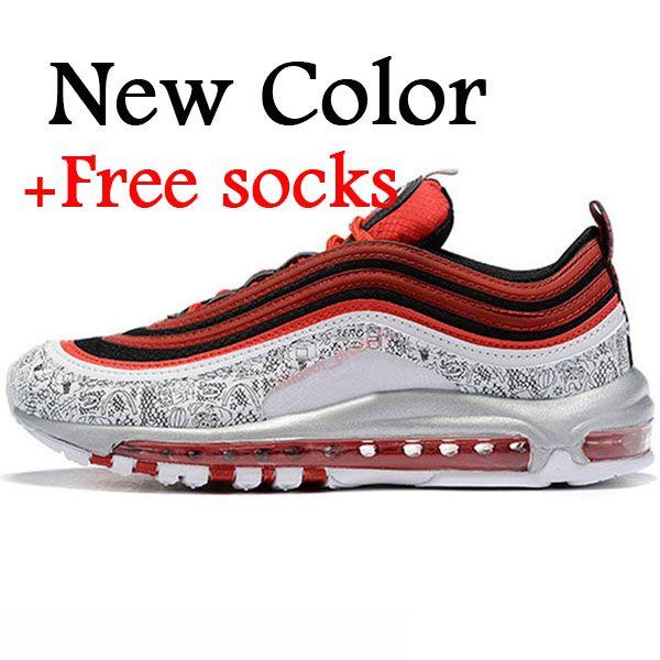 Großhandel Nike Air Max 97 Airmax 97 Vapormax VM OFF WHITE Star Mens Sneakers Designer Kissen Laufschuhe Irisierende Für Mann Damen Triple S Weiß