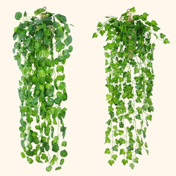 4 Styles Hanging Feuilles de vigne artificielle Verdure Plantes artificielles Feuilles Garland jardin Décorations de mariage Décoration murale