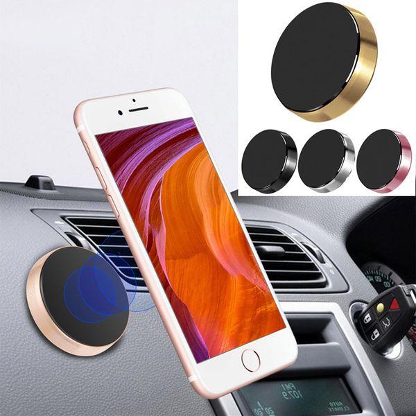 10 Pcs Magnetic Car Phone Holder Universal Wall Desk Magnet Sticker Mobile Stand Phone Holder Car Mount Support Black Gold T190625