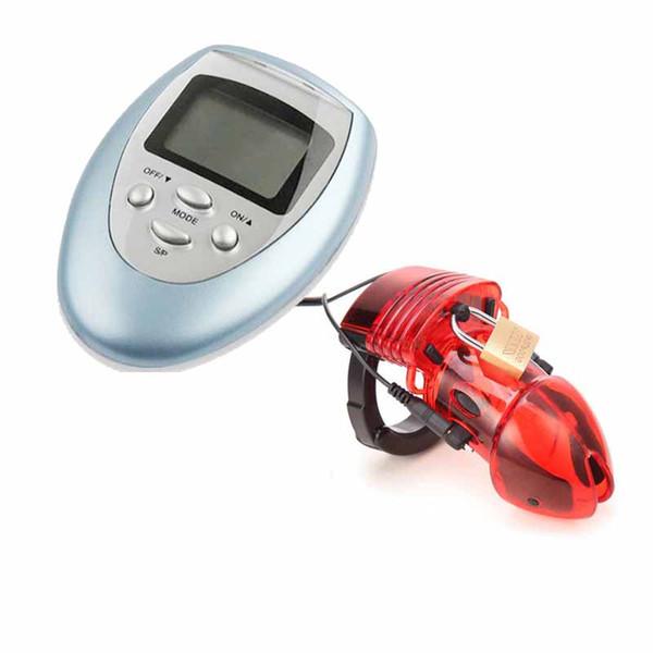 Electro brinquedo do sexo choque elétrico dispositivo de castidade masculino cinto gaiola electrostim penis gaiola bloqueado gaiola homens fetiche bondage bdsm engrenagem