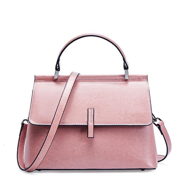 Wax Oil Vintage couro genuíno de luxo Senhoras bolsas Mulheres Bolsas Designer Mulher Shoulder Bag Feminino Bolsas Feminina Sac à main