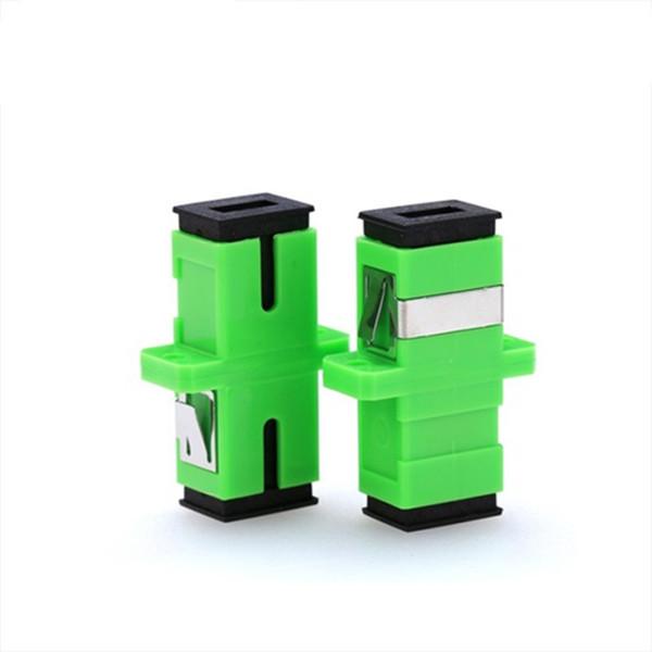 Promoción 200 unids / lote SC APC Adaptador Conector Conector Simplex Monomodo Plástico SM Adaptador de fibra óptica 328 Festival de compras