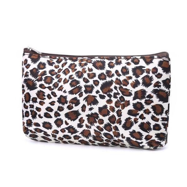Женская дорожная косметичка с леопардовым принтом для туалетных принадлежностей Многофункциональная нейлоновая ткань на молнии # 305887