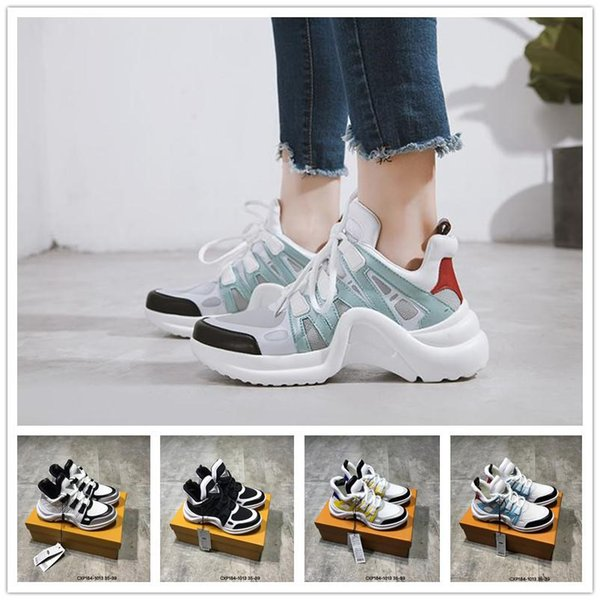 2018 New INS Gold Medal Designer Paris Luxury Shoes Fashion Casual Sports Shoes Womens Cheap Black White Outdoor Triple S Sneakers EUR 35-39