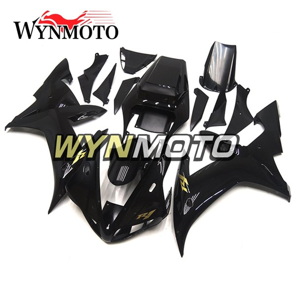 Carenados completos para Yamaha YZF1000 R1 2002 2003 02 03 ABS Plásticos Inyección Lustre Cubiertas negras Paneles de motos YZF R1 02 03 Bastidor del cuerpo de los cascos