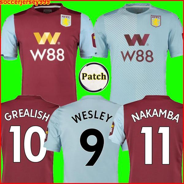 TOP 19 20 New Aston Villa soccer jersey Villa football shirt CHESTER WESLEY GREALISH HOGAN KODJA Men jerseys uniform equipment maillots