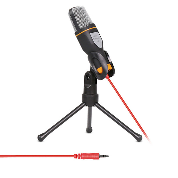 Micrófono de condensador estéreo con cable de alta calidad con sujetador para chatear Cantando Karaoke PC Portátil SF-666 $ 18 sin seguimiento