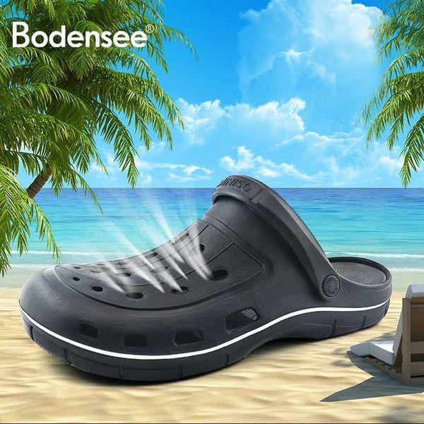 STRAVEL 2019 New Men Sandals Summer Slippers Shoes fashion beach Sandals Casual Flat Slip On Flip Flops Men Hollow Shoes Man