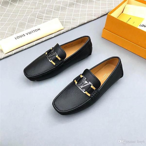 20ss Sapatos Italianos Homens Vestir Sapato Oficial Sapatos de Casamento Dos Homens Sapatos de Negócios Oxford Mocassins Dos Homens Negros Tamanho 38-45 Com Caixa