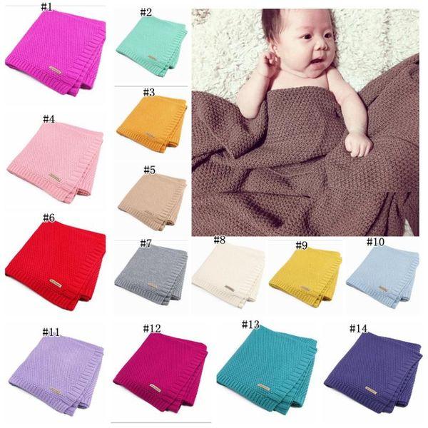 Baby Blanket Knitted Newborn Swaddle Wrap Blankets Super Soft Toddler Infant Bedding Quilt For Bed Sofa Basket Stroller Blankets MMA1277
