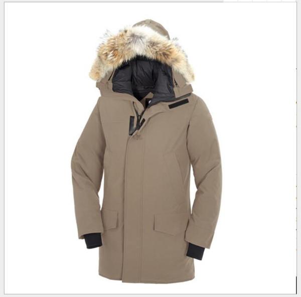Designer Winter Fourrure Down Parka Homme Jassen Chaquetas Capispalla Big Fur Hooded Fourrure Manteau Canada Piumino Coat Hiver Doudoune