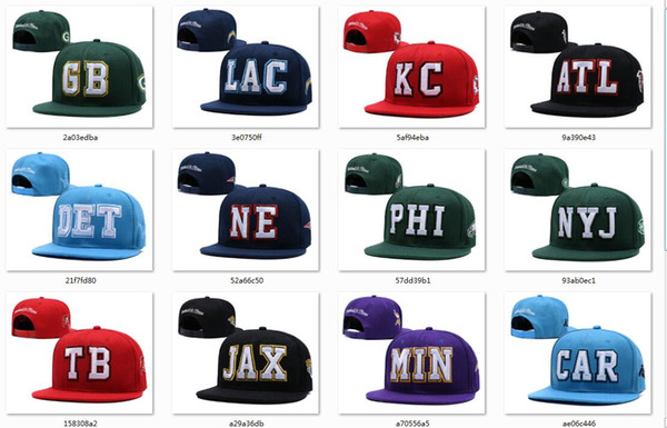 best selling New Caps Football Snapback Hats 2019 Cap 20 City Teams Hats Mix Match Order All Caps in stock Top Quality Hat Wholesale