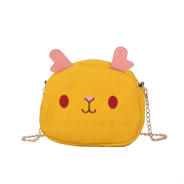 Cartoon Canvas Cross Body Bags Women Cute Cartoon Messenger Bags Ladies shoulder small chain square bag handbags #10