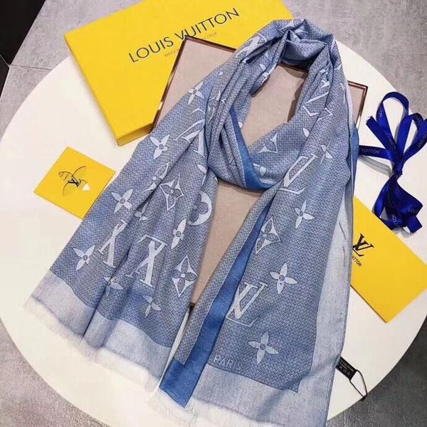 New Fashion Luxury Brand Women Silk Scarf Beach Shawl and Echarpe Luxurious  Wrap Designer Scarves Plus Size Female Beach Stole Bandana 6b6de89e921