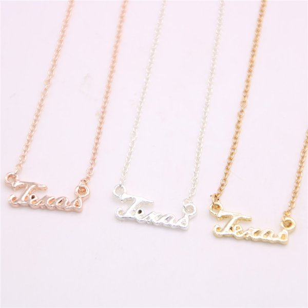 New style state name Pendant necklace Letter Pendant necklace designed for women and
