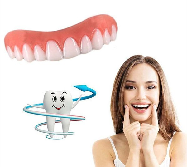Perfect Instant Smile Comfort Fit Flex Teeth Whitening Denture Paste False Teeth Upper Cosmetic Fake Tooth Cover Beauty Tool Reusable