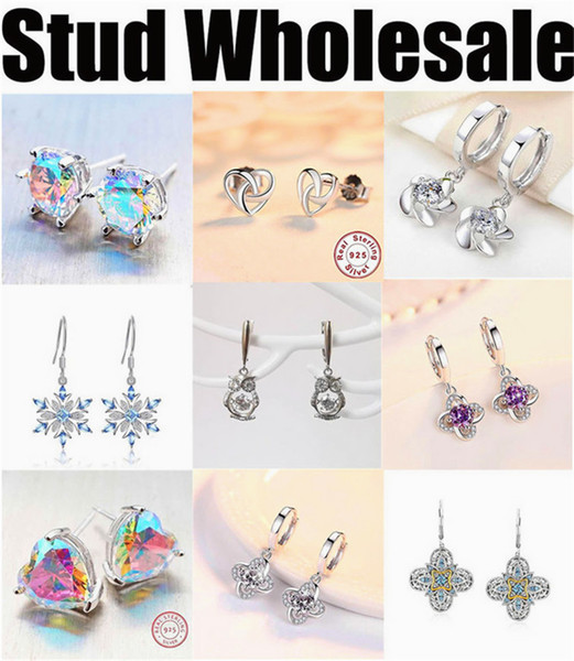 manufacturer wholesale earrings stub for women cheap high quality silver jewelry 2019 new free shipping designer blue round grey long