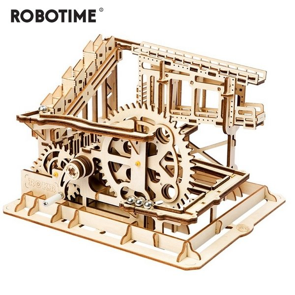 Robotime Diy Cog Coaster Magic Creative Marble Run Game Wooden Model Building Kits Assembly Toy Gift For Children Adult Lg502 Mx190731 Baby Building