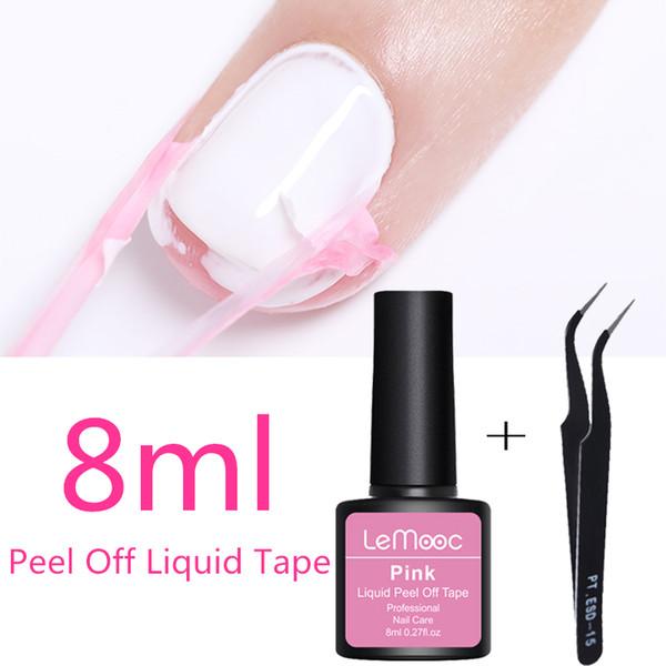 Lemooc 8ml Antifreezing Peel Off Liquid Tape Cream Nail Latex Cuticle Guard Protection Finger Skin Manicure Nail Art Care Nail Polish Rack Shellac