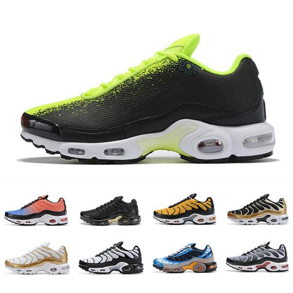 Compre Lujo 2019 Zapatillas De Deporte Para Hombre Nike Air Max 270 TN Plus Transpirable Cusion De Aire Al Aire Libre Zapatos Para Correr Nueva