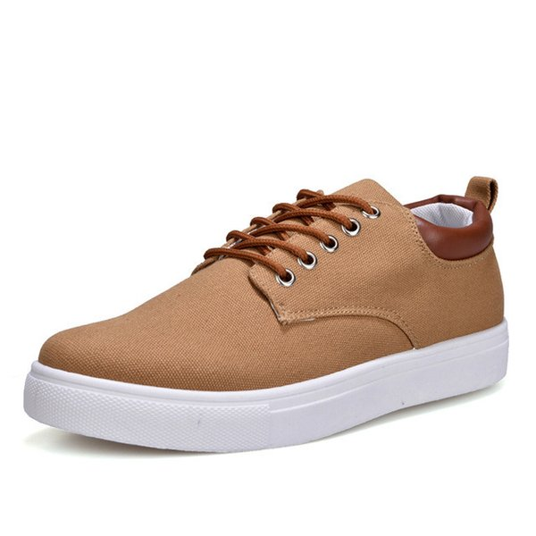 Canvas Shoes Men Casual Shoes 2018 Spring Autumn Sneakers Lace Up Men Comfortable Shoes Big Size 47 Handmade Moccasins