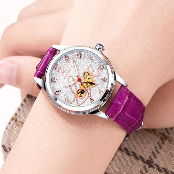 Swiss autêntico [Weskey] relógio das mulheres moda feminina estilo explosivo superfície estrela relógio mecânico automático