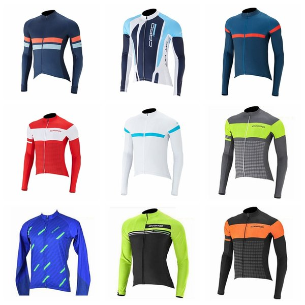 Equipo de CAPO Ciclismo Manga larga Jersey cuerda Hombres Aire libre Bicicleta de carrera MTB NUEVA camiseta Montar bicicleta Ropa Sportwear51847