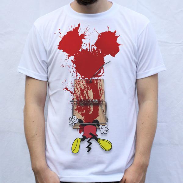 T camisa dos homens modas Trap Design Trapped dos desenhos animados impressão 100% Algodão branco de Manga Curta O Pescoço Tops Camiseta Homme