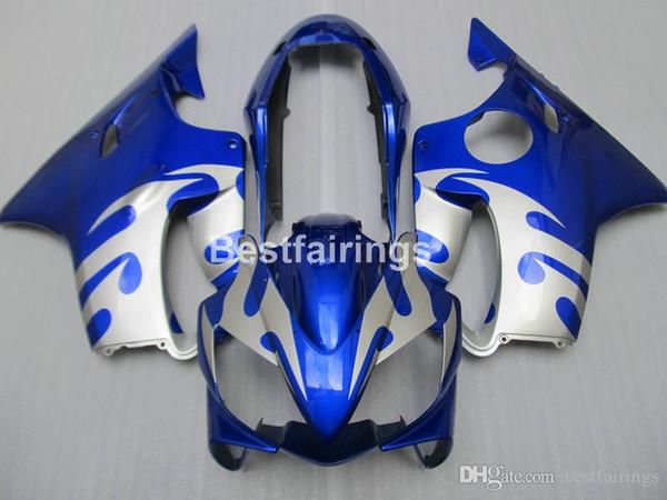 Kit carénage pièces moto injection pour Honda CBR600 F4I 04 05 06 07 kit carénages bleu argent CBR600 F4I 2004-2007 IY30