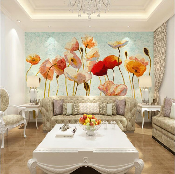 Customizing Art Style Home Decoration Living Room Wall Papers Kitchen Wall Stickers for Bedroom Seamless