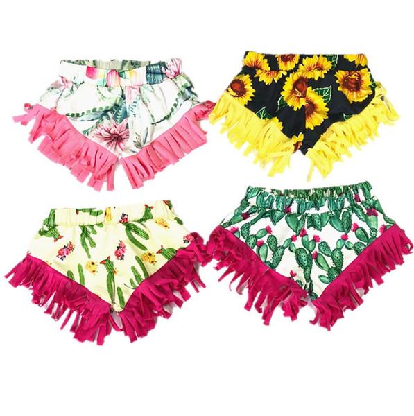 Baby Sequins Bloomer Shorts Chicas Girasol Brillo Danza Pantalones Niños Boutique Ruffle Shorts Casual Beach Boxers Party Summer Shorts B5900