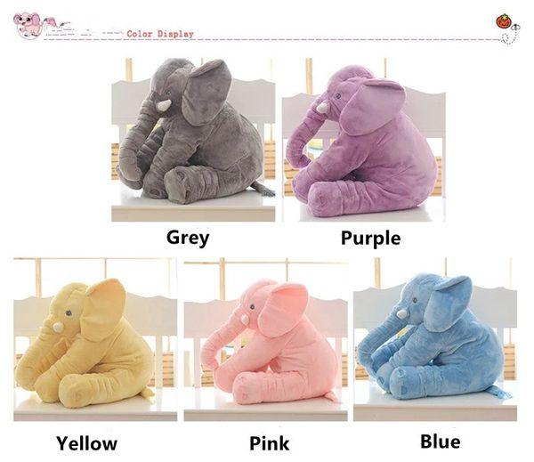 40CM della peluche Elefante bambola 16inch bambino che dorme posteriore molle ammortizzatore farcito sveglio animali Cuscino Elefante Accompagnare bambola bambini giocattoli Grigio Blu Rosa