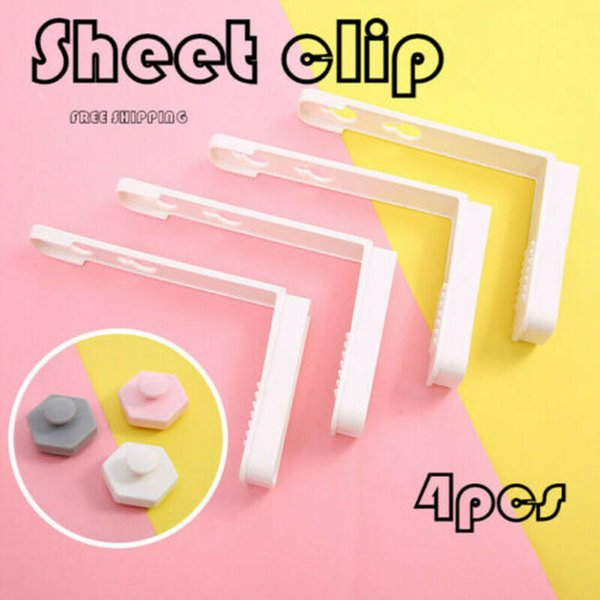 best selling 4pcs Set Bed Sheet Clip Coverlet Sheet Holder Slip-Resistant Fixing Clip Holders Clamps Mattress Fasteners Grippers Holder Hot