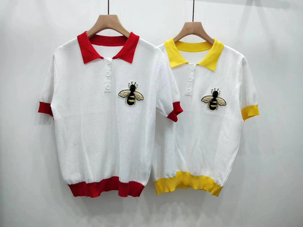 Das mulheres Designer de Camisa Polo Verão Nova Chegada Tshirt para As Mulheres de Manga Curta Lapela Top Tee S-L de Alta Qualidade