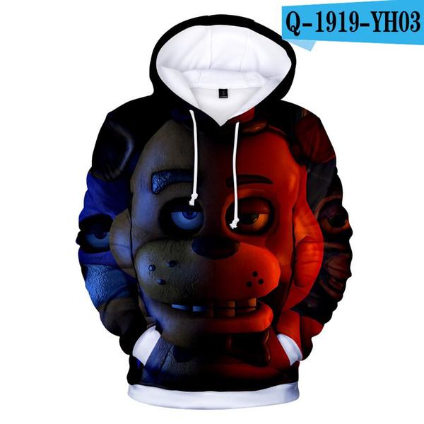 3D-Druck Mädchen Jungen Fünf Nächte bei Freddy Winter Herbst Oberbekleidung Jacken Mäntel Kinder Kapuzenpullover Kinder Pullover Tops