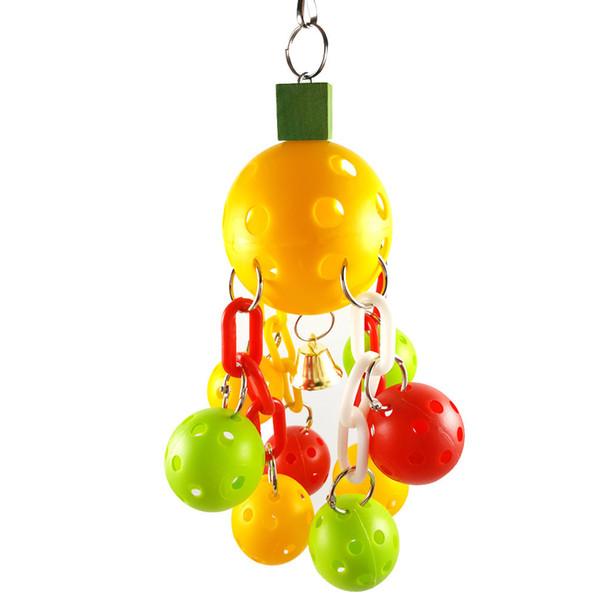 ( Hz - 36 ) Parrot Toys Bird Toys Plastic The Ball Sepaktakraw Plastic Chain Gnaw Toys