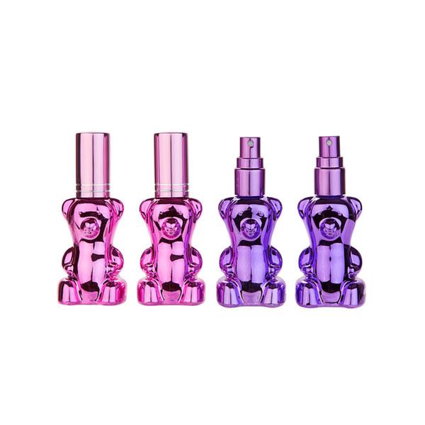 12ML Bear Shape Portable Perfumes Spray Bottle Refillable Glass Perfume Bottles Atomizer Fast Shipping F3347