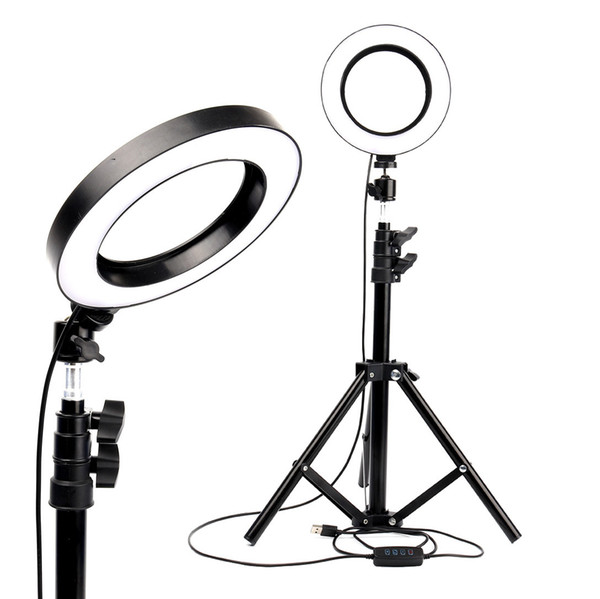 top popular LED Ring Light Photo Studio Camera Light Photography Dimmable Video light for Makeup Selfie with Tripod Phone Holder 2021