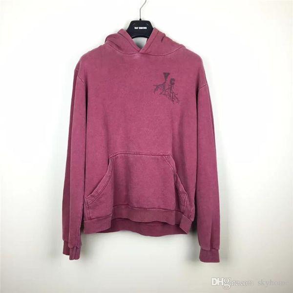 2002-2003 Raf Simons Oversized camisola hoodies Homens Mulheres Unisexual bolso camisa de malha Moda Preto manga comprida frete grátis 888