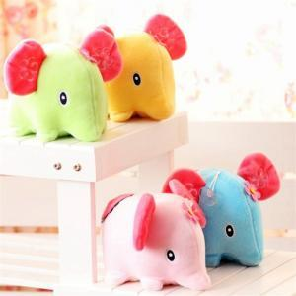 Lovely Plush Stand Elephant Toys Plush Stuffed Doll Toy Pendant Cartoon Pendant Kids Christmas Nice Gift 15CM WWA85
