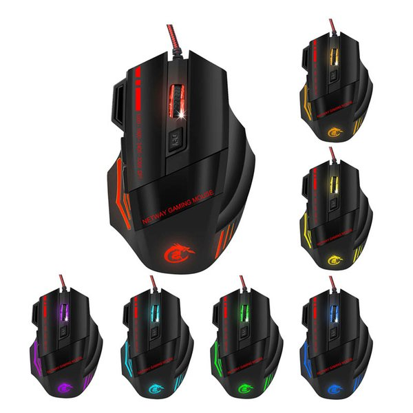 Recentemente LED professionale tastiera Gaming Mouse Combo retroilluminata colorato gioco Keyboard Mouse Set DC128