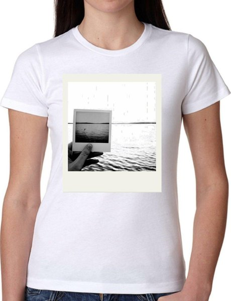T SHIRT JODE GIRL GGG22 Z2959 MARE OCEANO POLAROID FOTOGRAFIA LIFESTYLE FUN FASHI Uomo Donna Unisex Fashion tshirt Spedizione gratuita Divertente Cool