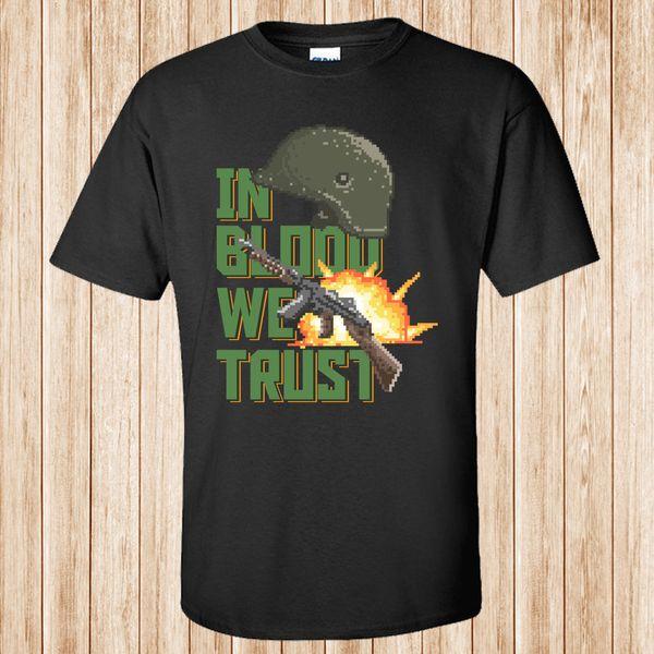 Dans le sang, nous faisons confiance à t-shirt RETRO styleFunny livraison gratuite Unisexe Casual Tshirt top